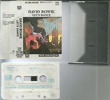 RARE / K7 AUDIO - DAVID BOWIE : LET' S DANCE / TAPE