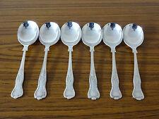 Conjunto de 6 chapado en plata patrón del rey Cucharas de sopa (17.5cm Long)