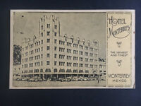 1943 Monterrey Hotel Mexico Censored Postcard Cover To USA