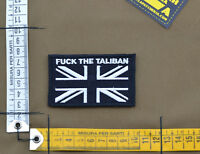 """Ricamata / Embroidered Patch """"F**k the Taliban UK Flag"""" with VELCRO® brand hook"""