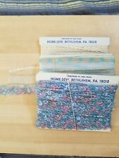 ~Vintage *Home Sew* (20+yds) Lot Metallic Trim/Cord Pink Blue Lace~