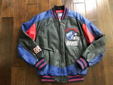 Vintage 90's NY Giants 100% Leather G-III Carl Banks Stitched Jacket Mens Med