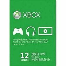 Microsoft Xbox Live Gold 12 Month Membership Card