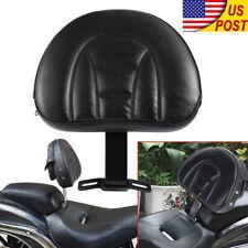 Driver Rider Backrest Kit Adjustable Plug-In Back For Harley Davidson 2007-2017