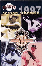 1997 SAN FRANCISCO GIANTS BASEBALL POCKET SCHEDULE