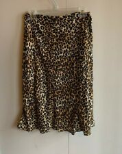 Michael Kors Animal Print Side Zip Silk Flare Skirt Women's Size 2 EUC