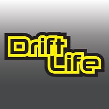 1x Funny Drift Life Two Colour Car Vinyl Decal Sticker | JDM | Euro | DUB | Jap
