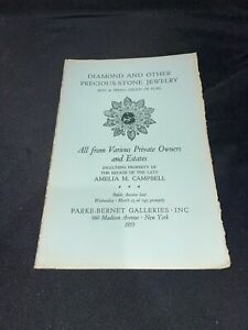 Diamond & Precious Stone Jewelry, Furs 1955 Parke-Bernet Auction Catalog