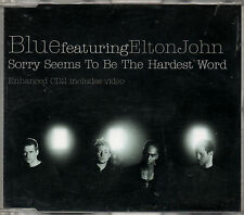 BLUE featuring Elton John - Sorry Seems To Be The Hardest Word -  2002 CD Single