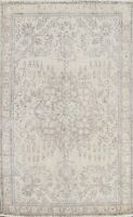 Muted Geometric Semi Antique Tebriz Distressed Hand-knotted Area Rug WOOL 3'x5'