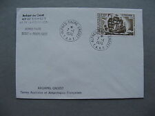 Taaf French Antarctic, cover 07-01-1974, Alfred Faure Crozet, sailship Mascarin