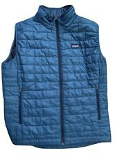 Patagonia Men's Nano Puff Vest Quilted Large Mens Teal Blue