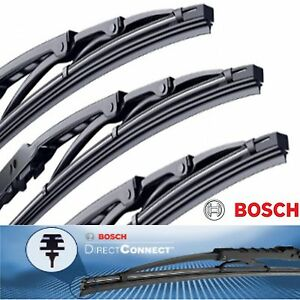 3 Bosch Direct Connect Wiper Blade Size 21 / 19 / 13 Front Left - Right and Rear