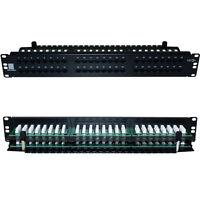 "QUALITY AT 48 Port/Way CAT5e Ethernet Patch Panel-2U 19"" Rack Mount-RJ45 Networ"