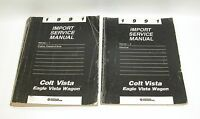 1991 Colt Vista Eagle Vista Wagon Factory Service Manuals GOOD USED CONDITION