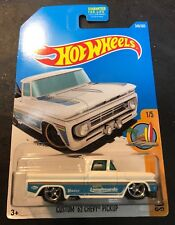2017 Hot Wheels CUSTOM Super White 62 Chevy with Real Riders