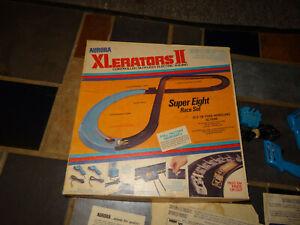 Original Aurora XLerators HO Racing Set #2 Cars Parts Track Slotless