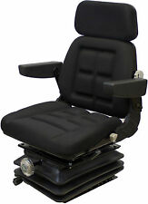 Black Fabric Mechanical Suspension Seat Fits Multiple Tractor Applications