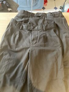 Two Pairs Of Boys Black School Trousers