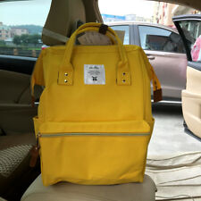 Japan Anello Big Size Backpack Rucksack Unisex Canvas Quality School Bag Yellow