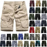 Mens Camouflage Military Combat Shorts Summer Casual Cargo Short Pants Trousers
