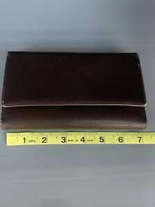 Coach trifold signature wallet, brown. Checkbook Credit Card Coin Cash