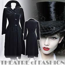 VINTAGE LAURA ASHLEY COAT 10 12 38 40 6 8 DRESS VELVET RIDING VICTORIAN 40s 50s