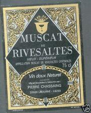 Etiquette de vin - Muscat de Rivesaltes