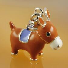 Charm 925 Silber 3D Pferd Einhänger Anhänger NEU