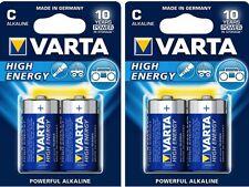 60 x Baterías Varta High Energy Baby C LR14 (30 ORIGINAL Ampolla) 10 años