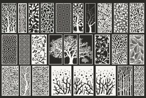 DXF-CDR of PLASMA LASER & ROUTER Cut FOR CNC BEST +80 PANEL ITEMS