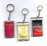 LOT: set of 3 collectible unique classic books keyrings