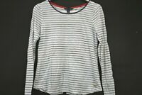 Tommy Hilfiger Womens Medium Shirt Long Sleeve Relaxed Fit White w/Blue Stripes