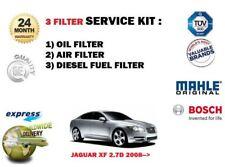 FOR JAGUAR XF 2.7TD 2008-2009 NEW SERVICE SET OIL AIR FUEL ( 3 ) FILTER KIT
