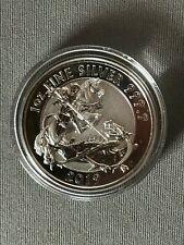 2 Sterline Pound Inghilterra Regno Unito Oncia Argento 2019 St. Giorgio Drago
