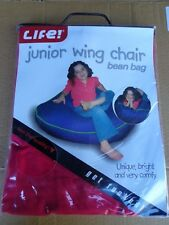"""BEAN BAG """"BRAND NEW"""" JUNIOR WING CHAIR LIFE BRAND PINK (BEANS NOT INCLUDED)"""