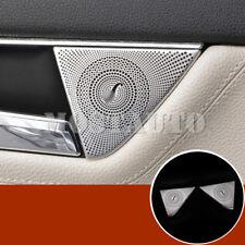 For Benz C Class W204 Interior Rear Door Speaker Frame Cover Trim 2pcs 2008-2013