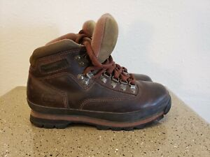 Vintage Timberland Mens Brown Leather Ankle Hiking Boots Size 6 M Euro Hiker