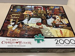 The Cats of Charles Wysocki•2000 Piece Puzzle•Maggie The Messmaker•Buffalo Games