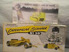 Reuhl Products CAT Scraper No.70 & Greyshaw CAT D7 (2) Plastic Kits -  KA 54,55