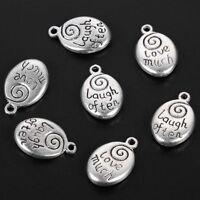 10pcs Tibetan Silver Oval Love much beads charms Pendants fit bracelet 16x15 mm