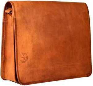 Vintage charming leather messenger Retro shoulder laptop handmade satchel bag