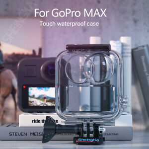 Touchscreen Waterproof Housing Case for GoPro MAX Action Camera Accessories Part