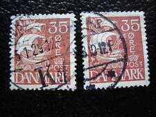 DANEMARK - timbre - yvert et tellier n° 185 x2 obl (A12) stamp denmark