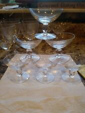 """Set of 6 Palate Cleansers or Sherbet Dishes, Orrefors  Clear, Glass 2-1/4"""""""