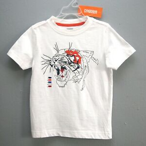 Size XS (4) - NWT GYMBOREE Boys 100% Cotton White Tiger Short Sleeve T-shirt