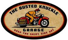 Busted Knuckle Garage Motorcycle Retro Metal Sign Man Cave Shop Club Bust057