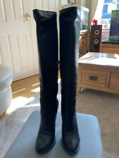 Arollo Black Leather Stiletto Knee Boots Sz36/3 unused
