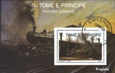 Sao Tome e Principe block210 (complete issue) used 1989 Locomot