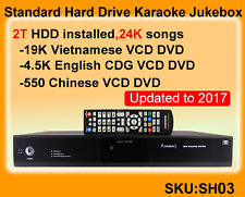 Standard Vietnamese Karaoke Jukebox,2TB,Vietnamese+English+Chinese famous songs